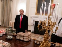 Trump Honors Clemson Champions With Feast Fit for a (Burger) King